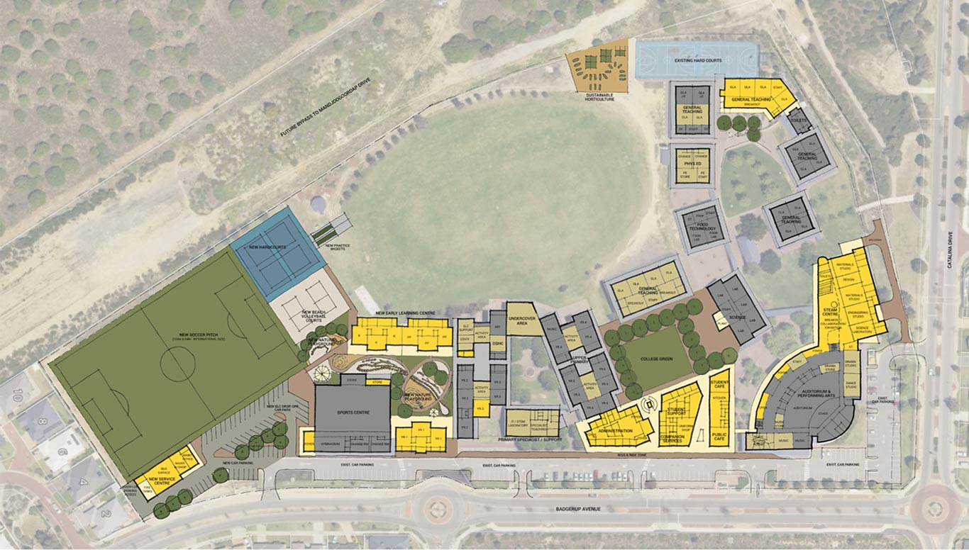College Master Plan map from the top
